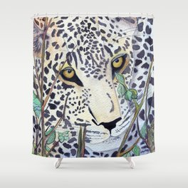 Never Resting - Leopard by Maureen Donovan Shower Curtain