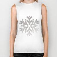 snowflake Biker Tanks featuring Snowflake by iMei