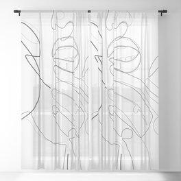 Bold Lip Sheer Curtain