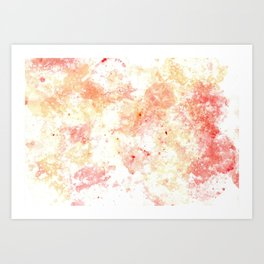 Warm bubbles Art Print