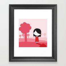 Polkadot Dress Framed Art Print