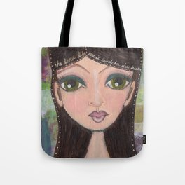 she loved life Tote Bag