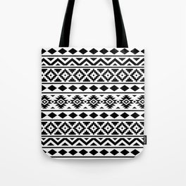 Aztec Essence Ptn III Black on White Tote Bag