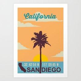San Diego. Art Print