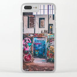 Abandoned Building Graffiti Clear iPhone Case