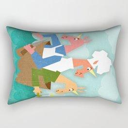 Rub a Dub Dub, 3 Unicorns in a Tub Rectangular Pillow