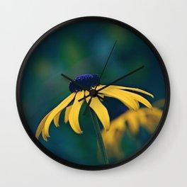 Black Eyed Susan on a Misty Day Wall Clock