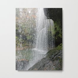 Behind the waterfall at Nabegataki Japan Metal Print