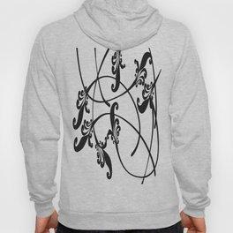 Ink Flowers Design Hoody
