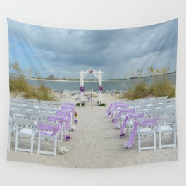 Wedding on the Beach Wall Tapestry