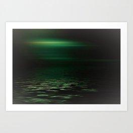 Light-Green sea at twilight Art Print