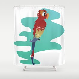 Little Parrot Shower Curtain