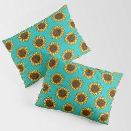 Aqua Sunflowers Pillow Sham