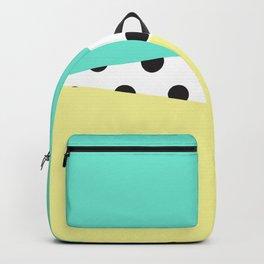Color Block & Polka Dots Backpack