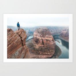 Above Horseshoe Bend Art Print