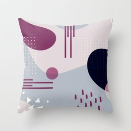 purple geometry abstract Throw Pillow