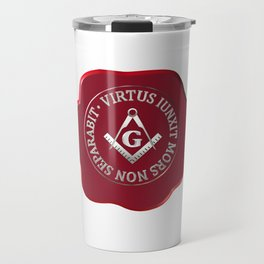 Masonic wax seal Travel Mug