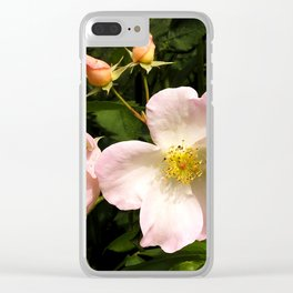 The Sally Holmes Single Rose Clear iPhone Case