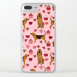 Bloodhounds cupcakes valentines day gifts dog lover pet friendly hearts dog breed Clear iPhone Case