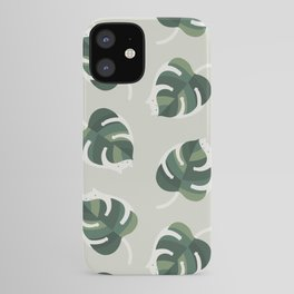 Monstera Cat pattern 1 iPhone Case