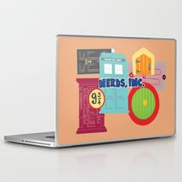 monster inc Laptop & iPad Skins featuring Nerds Inc by Lacey Simpson