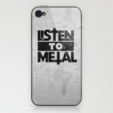 Listen to Metal iPhone & iPod Skin
