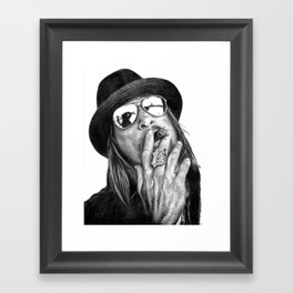Kid Rockin' Up & Down Your Block Framed Art Print