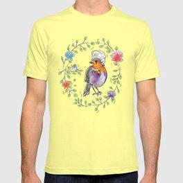 Marie LaTweetonette Watercolour Robin Illustration   T-shirt
