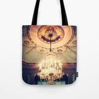 chandelier Tote Bags featuring Chandelier by elle moss