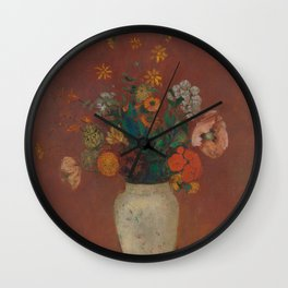 Odilon Redon - Bouquet in a Chinese Vase (1912-14) Wall Clock
