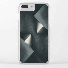Rusty Old Blades Clear iPhone Case