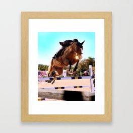 Sunset Showjumper Framed Art Print