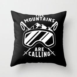 Snowboard Snowboarder Gift Snowboarding Throw Pillow