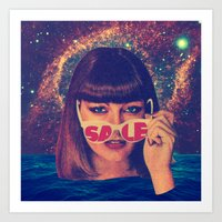 sale Art Prints featuring Sale! by Serra Kiziltas