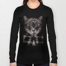 Gangster Cat (Platinum) Long Sleeve T-shirt
