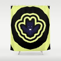 bat Shower Curtains featuring bat by Nir P