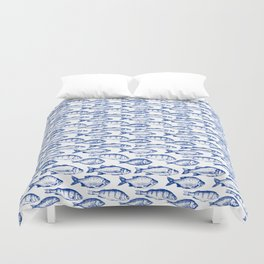 Dark Blue Fish Duvet Cover