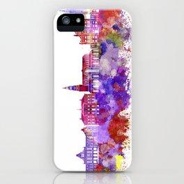 Groningen skyline in watercolor background iPhone Case