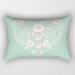 Nebula Pink Heart Rectangular Pillow