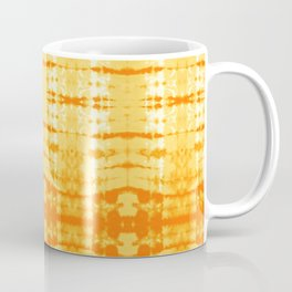 Satin Shibori Yellow Coffee Mug