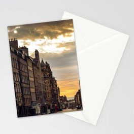 Royal Mile Sunrise in Edinburgh, Scotland Stationery Cards
