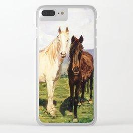 Caballos/Cabalos/Horses Clear iPhone Case
