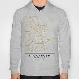 STOCKHOLM SWEDEN CITY STREET MAP ART Hoody