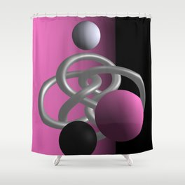 escaped -1of3- pink Shower Curtain