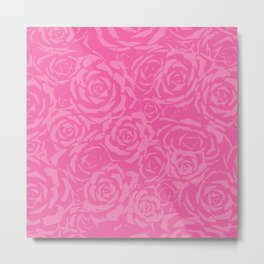 Succulent Stamp - Pinks #212 Metal Print