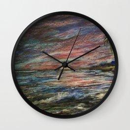 CRAYON LOVE: Ermahgerd! HOLY MACKEREL CRAYON SUNSET! Wall Clock