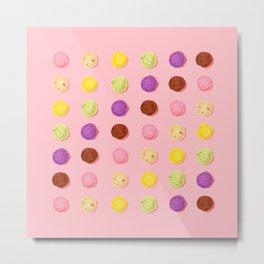 Blush Pink Ice Cream Metal Print