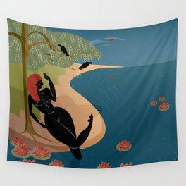 Kuan Yin Beneath a Willow Wall Tapestry