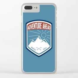 Adventure Ahead - Color Clear iPhone Case