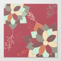 morrocan Canvas Prints featuring Morrocan Flowers by Studio Samantha